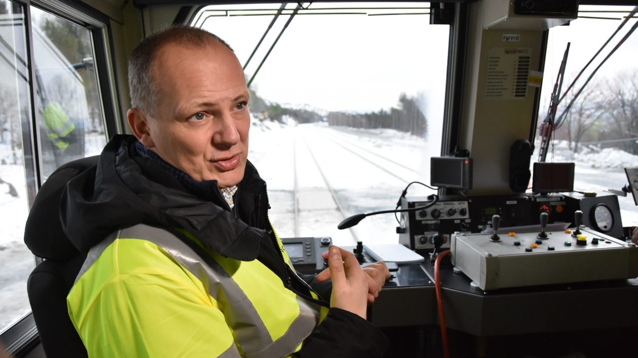 Samferdselsministeren på befaring på jernbanen