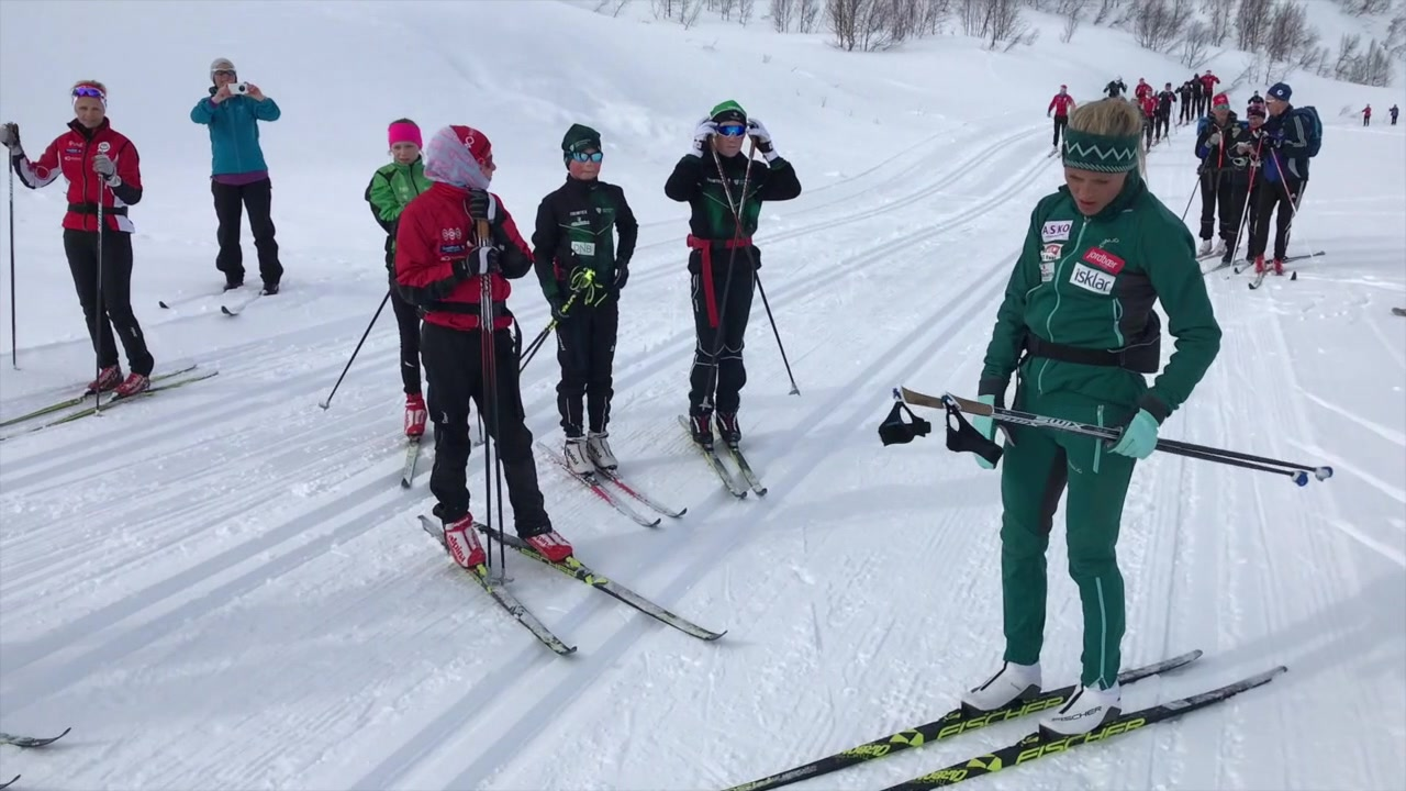 På skitrening med verdens beste