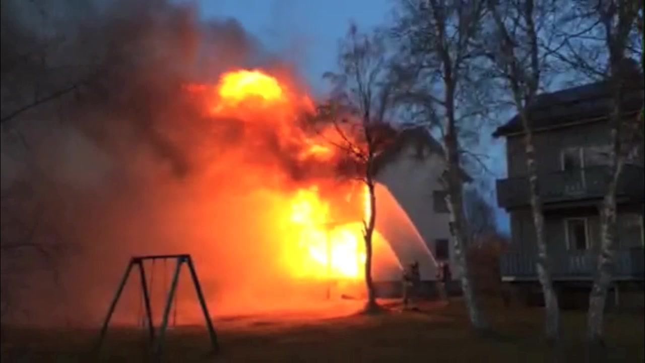 Brann i Myrveien