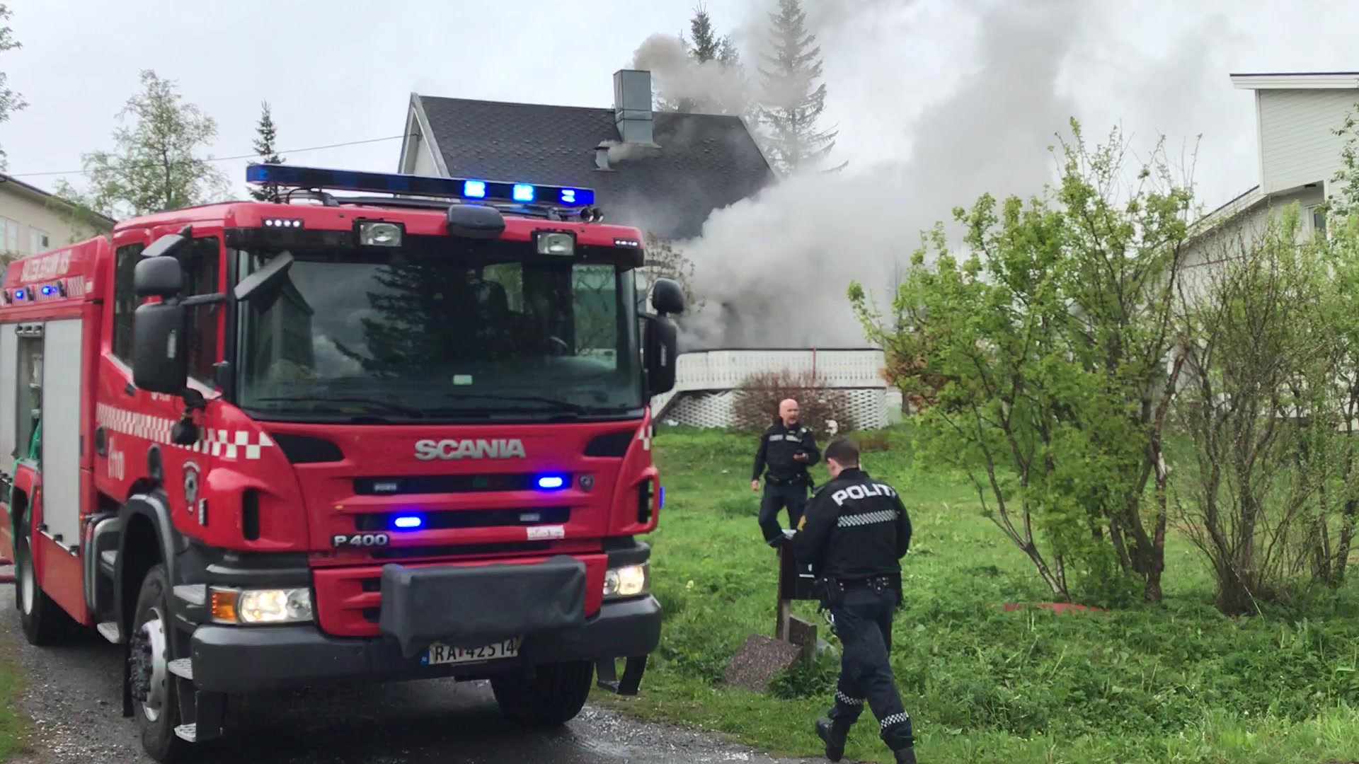 Brann i bolighus