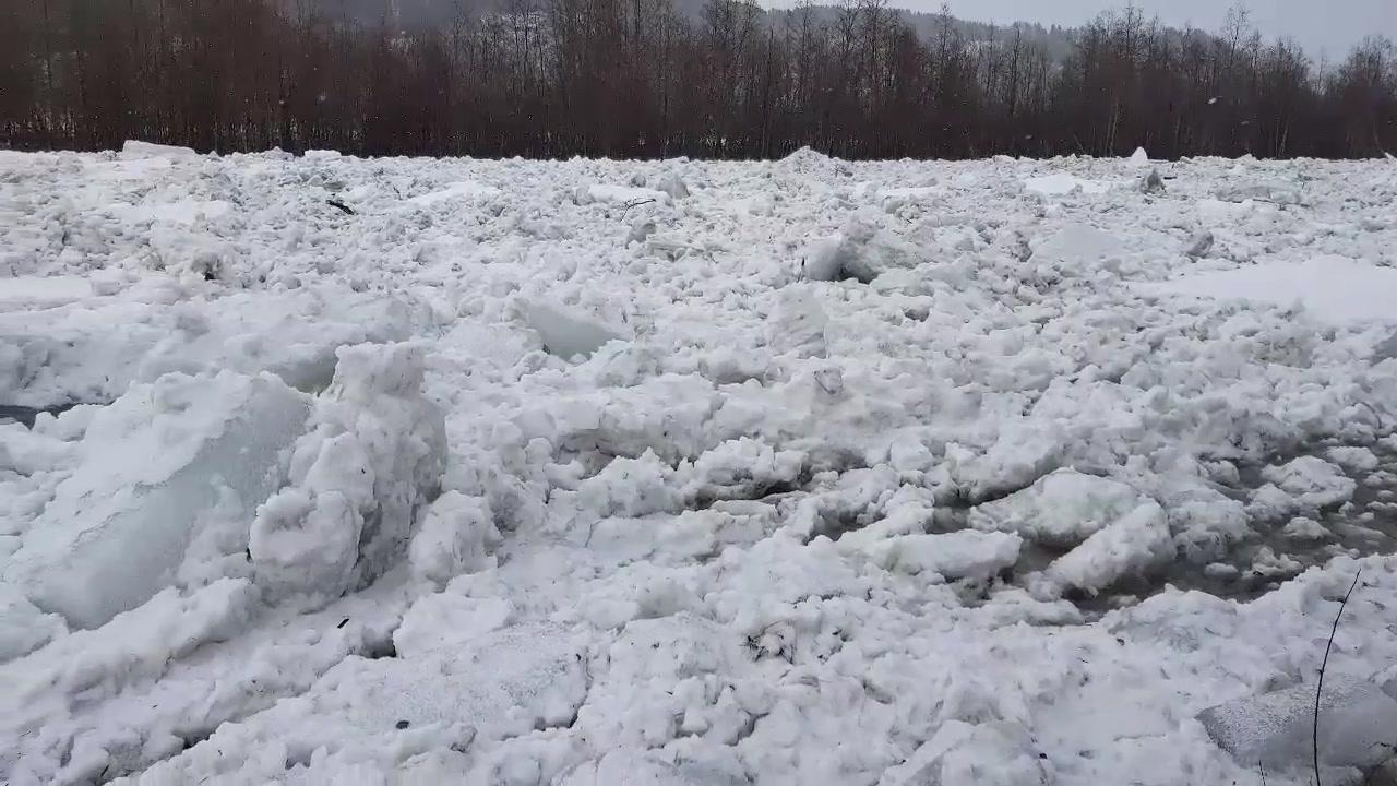 Isgang i Beiarelva