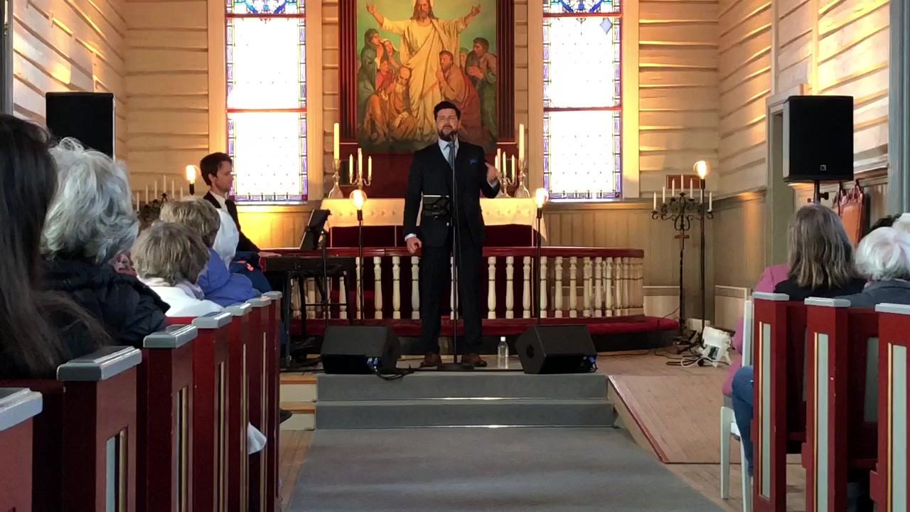 Didrik Solli-Tangen i Fauske kirke