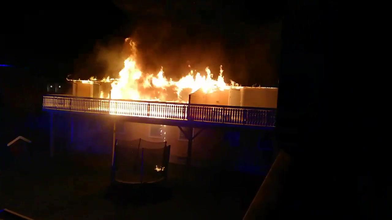 Videoklipp fra brannen
