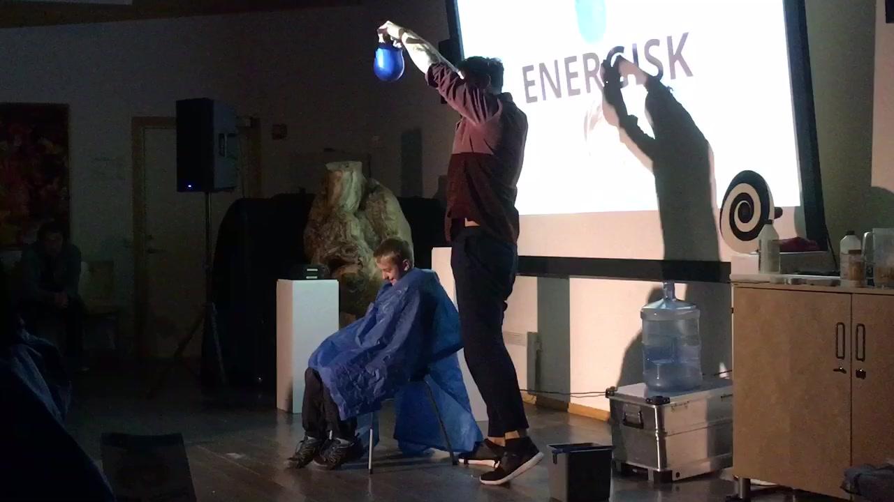 Stunt med badehette